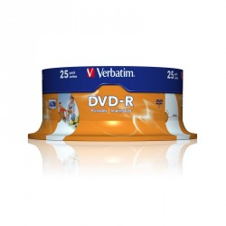 DVD-R printable 25 unidades
