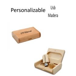 USB907 8 GB PENDRIVE+CAJA MADERA PERSONALIZADO