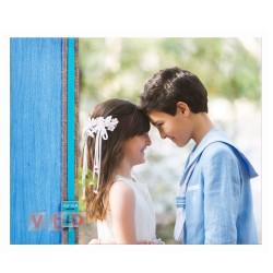 Mod W821C Álbum Foto Vertical Madera Azul con Caja