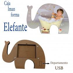 Mod Caja con Imagen Silueta Elefante