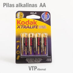 Pilas Kodak Xtralife AA Alkaline